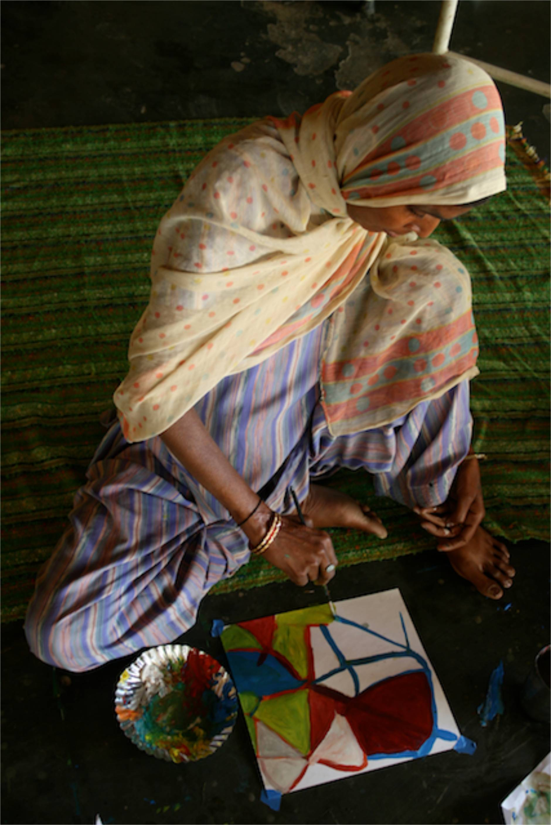 Destitute Woman - Workshop at Sewa Ashram