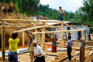Helping each other to rebuild homes