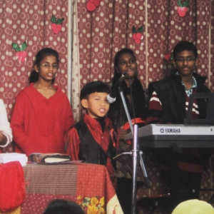 Christmas celebrations with orphans and widows.